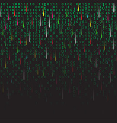 Binary code green and dark background with vector