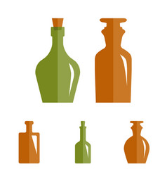 Old retro medicine bottle icon vector