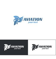 Aviation logo design six vector