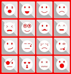 Feeling face icons on the button edit vector