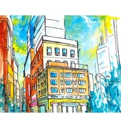 Drawing City vector image