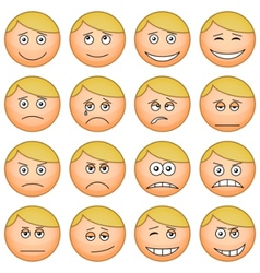 Cartoon faces vector