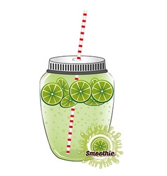 Delicious smoothie vector