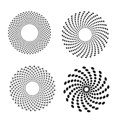 Set of spirals design element vector