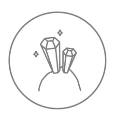 Gemstones line icon vector