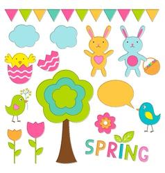 Spring set vector