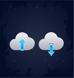 Cloud computing download concept vector
