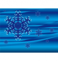 falling snowflakes vector image