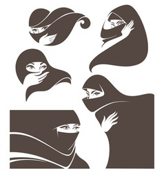 arabic beauty vector image vector image