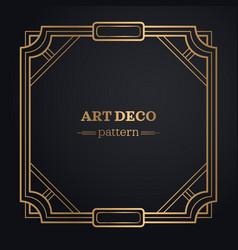 art deco frame background vector image