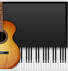 Background with piano keys vector image vector image