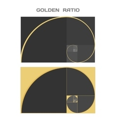 Business Card Template Golden Ratio Divine vector image