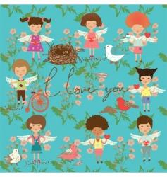 cartoon children vector image vector image
