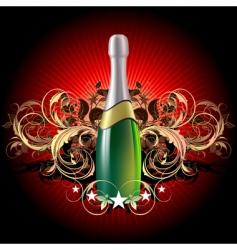 champagne celebratory vector image vector image