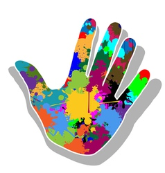 Colorful hand vector image