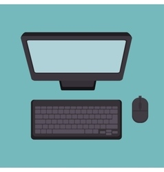 Computer desktop technology icon vector