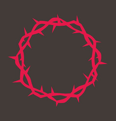 crown of thorns of jesus vector image vector image