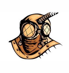 deep sea diver vector image
