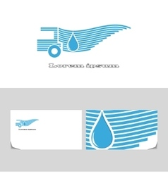 Delivery water vector image vector image