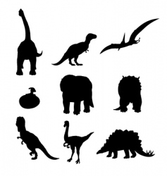 dinosaur silhouettes vector image vector image
