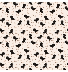 Dogs dachshund seamless pattern dog vector