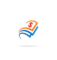 dollar sign money logo vector image vector image