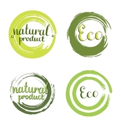 Eco set with circle frames design elements vector