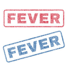 Fever textile stamps vector
