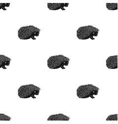 hedgehoganimals single icon in black style vector image vector image