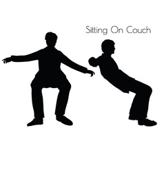 Man in sitting pose on couch pose vector
