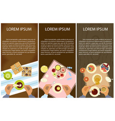 Menu for tea time vector