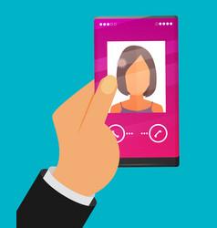 modern smartphone flat vector image vector image