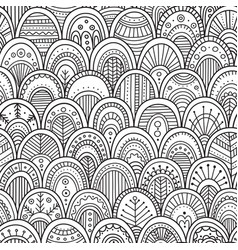 Ornamental scallops seamless pattern vector
