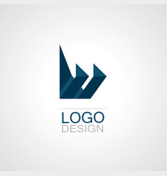 Paper craft technology logo vector