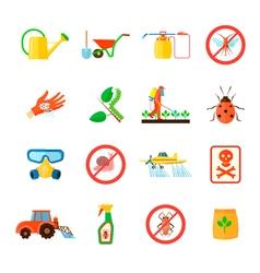 Pesticides icons set vector
