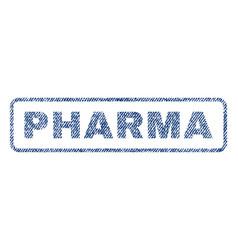 Pharma textile stamp vector