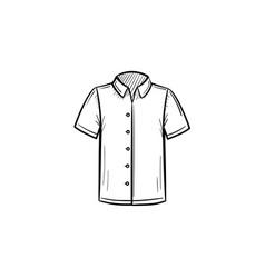 polo shirt hand drawn sketch icon vector image