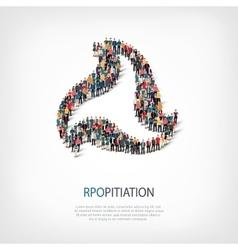Propitiation people sign 3d vector