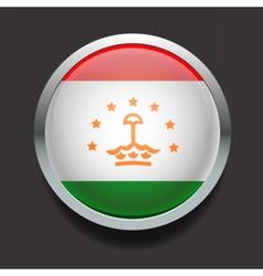 Round flag of Tajikistan vector image