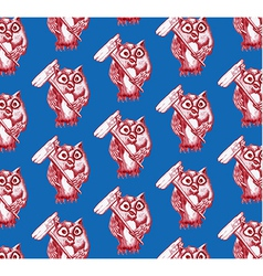 Seamless pattern of owl vector image