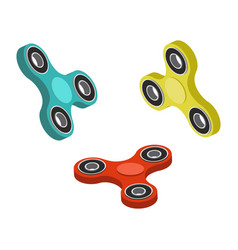 Spinner toy isometric vector