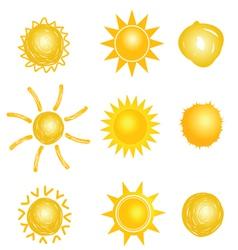 sun set drawing vector image vector image