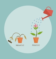water the positive sprout positive thinking concep vector image vector image