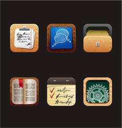 web icon app vector image