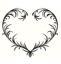 Flourishing heart vector