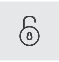 Unlock icon vector
