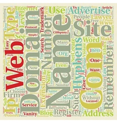 How to pick a web site domain name for your vector