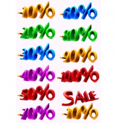 Set of sale percents vector
