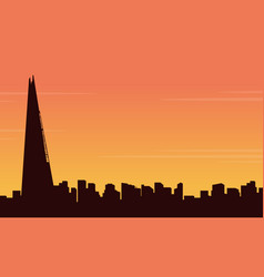 Collection stock london city building landscape vector