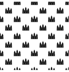 Castle tower pattern vector